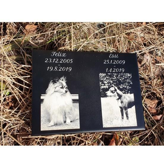 Muistotaulu Kuvalla 400 x 250mm